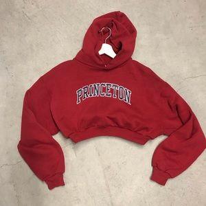 Princeton crop hoodie